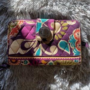 Vera Bradley Turn Lock Wallet - Plum Crazy